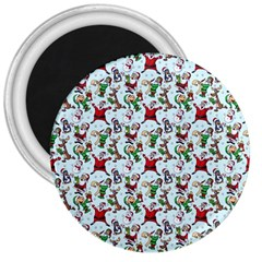 Christmas Pattern 3  Magnets by tarastyle