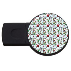 Christmas Pattern Usb Flash Drive Round (2 Gb) by tarastyle