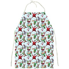 Christmas Pattern Full Print Aprons by tarastyle