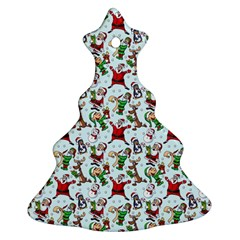 Christmas Pattern Christmas Tree Ornament (two Sides) by tarastyle