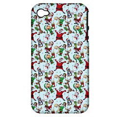 Christmas Pattern Apple Iphone 4/4s Hardshell Case (pc+silicone)