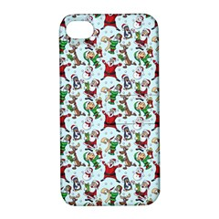 Christmas Pattern Apple Iphone 4/4s Hardshell Case With Stand