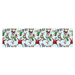 Christmas Pattern Satin Scarf (oblong)