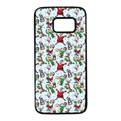 Christmas Pattern Samsung Galaxy S7 Black Seamless Case by tarastyle