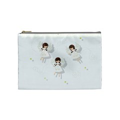 Christmas Angels  Cosmetic Bag (medium)  by Valentinaart