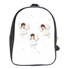 Christmas Angels  School Bag (large) by Valentinaart