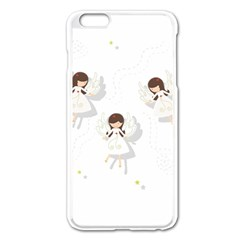 Christmas Angels  Apple Iphone 6 Plus/6s Plus Enamel White Case by Valentinaart