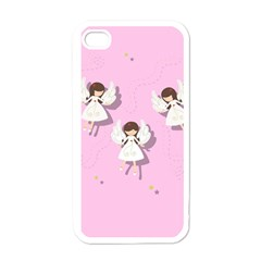 Christmas Angels  Apple Iphone 4 Case (white) by Valentinaart