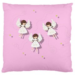 Christmas Angels  Large Cushion Case (two Sides) by Valentinaart
