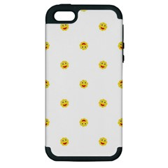 Happy Sun Motif Kids Seamless Pattern Apple Iphone 5 Hardshell Case (pc+silicone) by dflcprintsclothing