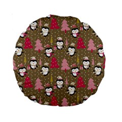 Christmas Pattern Standard 15  Premium Round Cushions by tarastyle