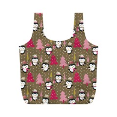 Christmas Pattern Full Print Recycle Bags (m)  by tarastyle