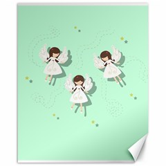 Christmas Angels  Canvas 16  X 20   by Valentinaart