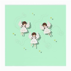 Christmas Angels  Medium Glasses Cloth (2 Side) by Valentinaart