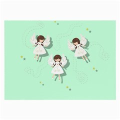 Christmas Angels  Large Glasses Cloth by Valentinaart
