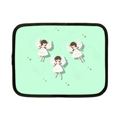 Christmas Angels  Netbook Case (small)  by Valentinaart