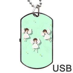 Christmas Angels  Dog Tag Usb Flash (two Sides) by Valentinaart