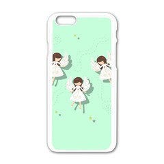 Christmas Angels  Apple Iphone 6/6s White Enamel Case by Valentinaart