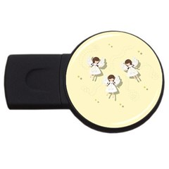 Christmas Angels  Usb Flash Drive Round (2 Gb) by Valentinaart