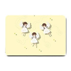 Christmas Angels  Small Doormat  by Valentinaart