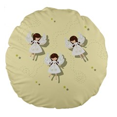 Christmas Angels  Large 18  Premium Round Cushions by Valentinaart