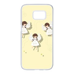 Christmas Angels  Samsung Galaxy S7 Edge White Seamless Case