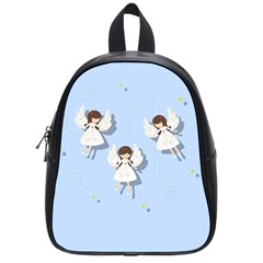 Christmas Angels  School Bag (small) by Valentinaart