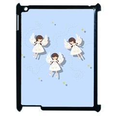 Christmas Angels  Apple Ipad 2 Case (black) by Valentinaart