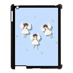 Christmas Angels  Apple Ipad 3/4 Case (black) by Valentinaart