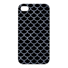 Scales1 Black Marble & Silver Paint (r) Apple Iphone 4/4s Hardshell Case by trendistuff