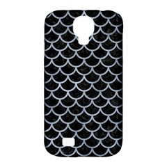 Scales1 Black Marble & Silver Paint (r) Samsung Galaxy S4 Classic Hardshell Case (pc+silicone) by trendistuff