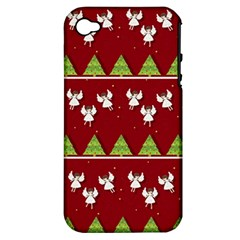 Christmas Angels  Apple Iphone 4/4s Hardshell Case (pc+silicone)
