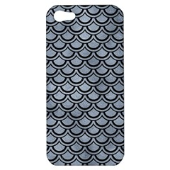 Scales2 Black Marble & Silver Paint Apple Iphone 5 Hardshell Case by trendistuff
