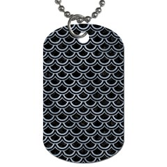 Scales2 Black Marble & Silver Paint (r) Dog Tag (two Sides) by trendistuff