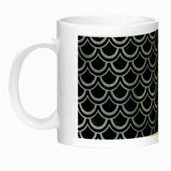 Scales2 Black Marble & Silver Paint (r) Night Luminous Mugs by trendistuff