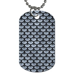 Scales3 Black Marble & Silver Paint Dog Tag (two Sides) by trendistuff