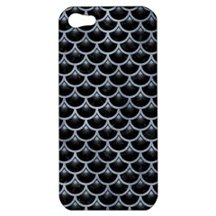 Scales3 Black Marble & Silver Paint (r) Apple Iphone 5 Hardshell Case by trendistuff