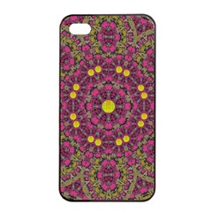 Butterflies  Roses In Gold Spreading Calm And Love Apple Iphone 4/4s Seamless Case (black) by pepitasart
