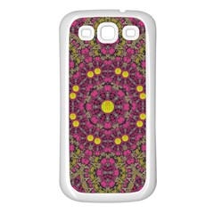 Butterflies  Roses In Gold Spreading Calm And Love Samsung Galaxy S3 Back Case (white) by pepitasart