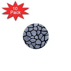 Skin1 Black Marble & Silver Paint (r) 1  Mini Magnet (10 Pack)  by trendistuff