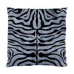 Skin2 Black Marble & Silver Paint Standard Cushion Case (two Sides)