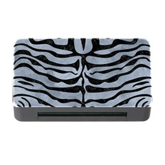 Skin2 Black Marble & Silver Paint Memory Card Reader With Cf by trendistuff