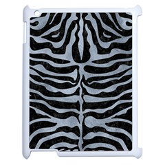 Skin2 Black Marble & Silver Paint (r) Apple Ipad 2 Case (white) by trendistuff