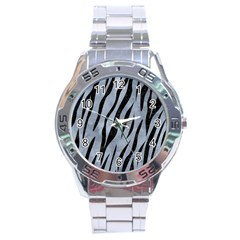 Skin3 Black Marble & Silver Paint Stainless Steel Analogue Watch by trendistuff
