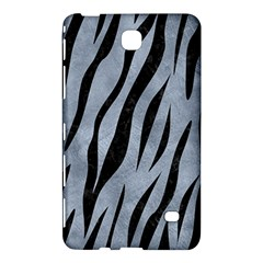 Skin3 Black Marble & Silver Paint Samsung Galaxy Tab 4 (8 ) Hardshell Case