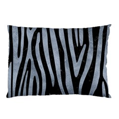 Skin4 Black Marble & Silver Paint Pillow Case by trendistuff