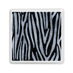 Skin4 Black Marble & Silver Paint Memory Card Reader (square)