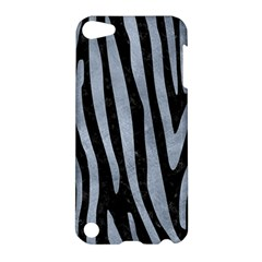 Skin4 Black Marble & Silver Paint Apple Ipod Touch 5 Hardshell Case by trendistuff