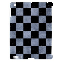 Square1 Black Marble & Silver Paint Apple Ipad 3/4 Hardshell Case (compatible With Smart Cover) by trendistuff