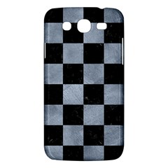 Square1 Black Marble & Silver Paint Samsung Galaxy Mega 5 8 I9152 Hardshell Case  by trendistuff